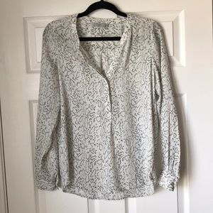 Dalia snakeskin printed blouse